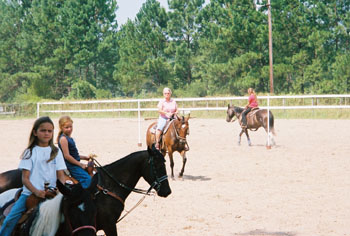 KB Horse Camp students